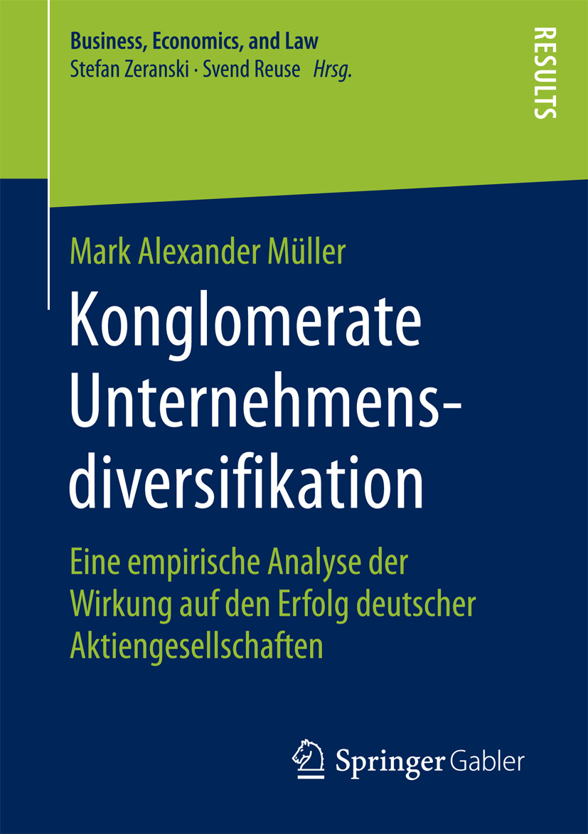 Müller, Mark Alexander - Konglomerate Unternehmensdiversifikation, ebook