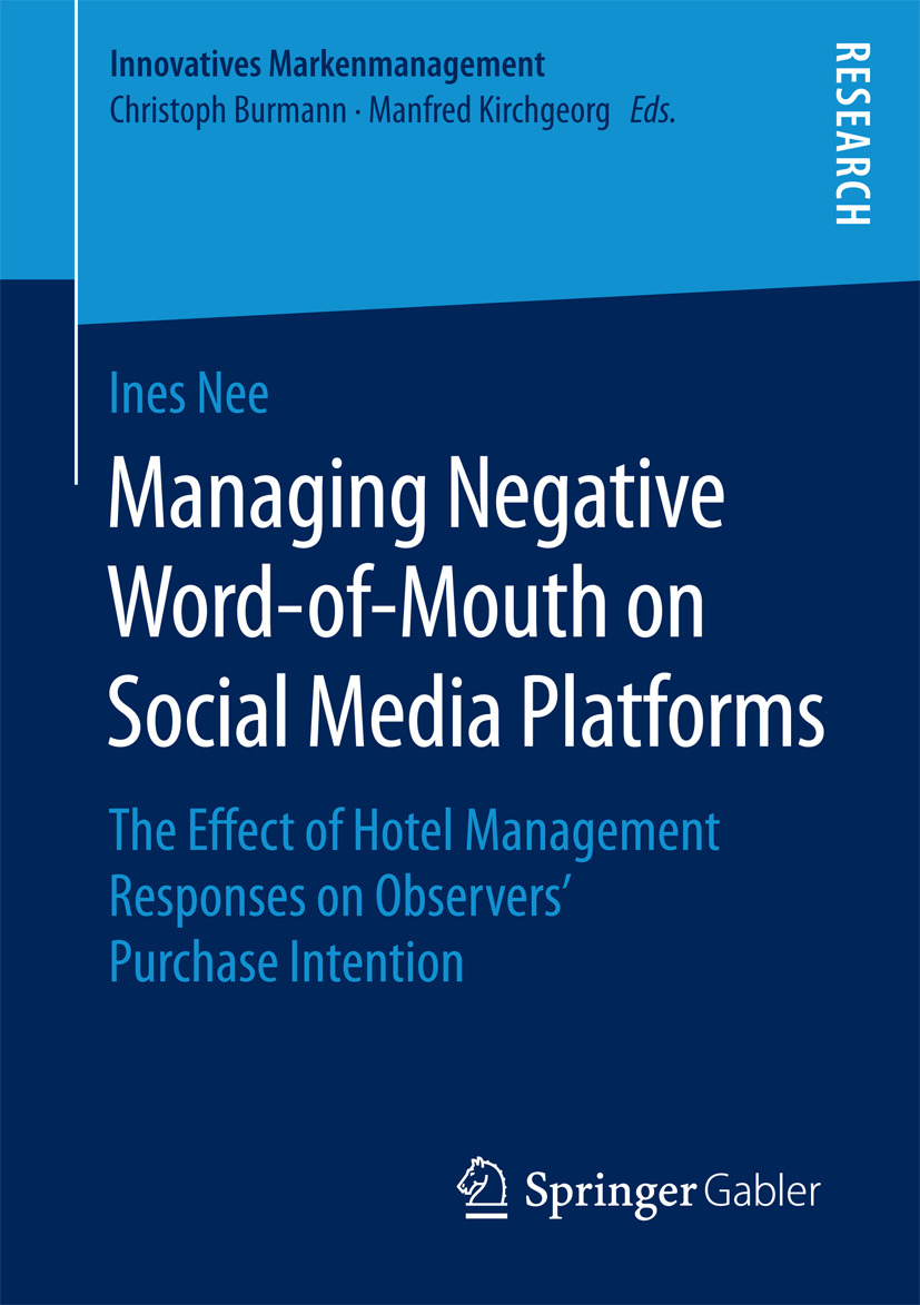 Nee, Ines - Managing Negative Word-of-Mouth on Social Media Platforms, ebook