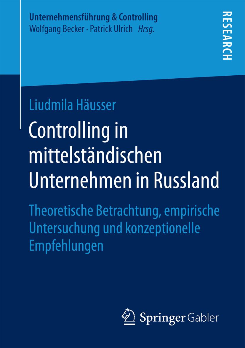 Häusser, Liudmila - Controlling in mittelständischen Unternehmen in Russland, ebook