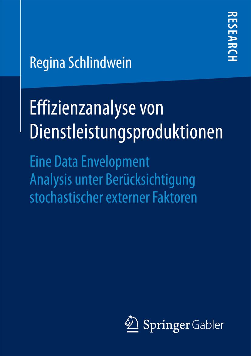 Schlindwein, Regina - Effizienzanalyse von Dienstleistungsproduktionen, ebook