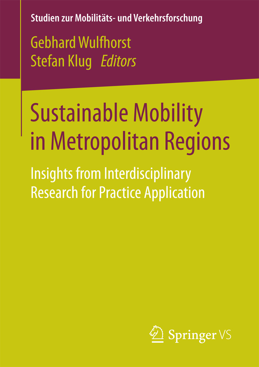 Klug, Stefan - Sustainable Mobility in Metropolitan Regions, ebook