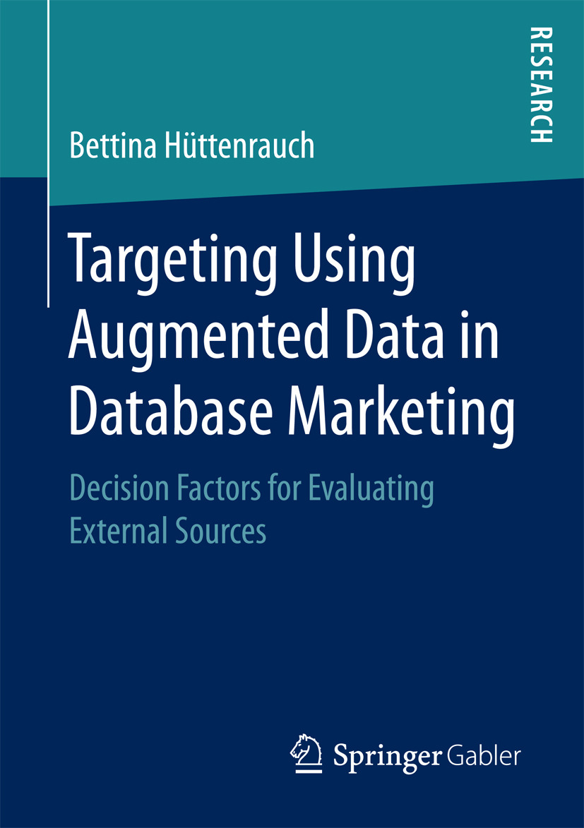 Krämer, Bettina Hüttenrauch, geb. - Targeting Using Augmented Data in Database Marketing, ebook