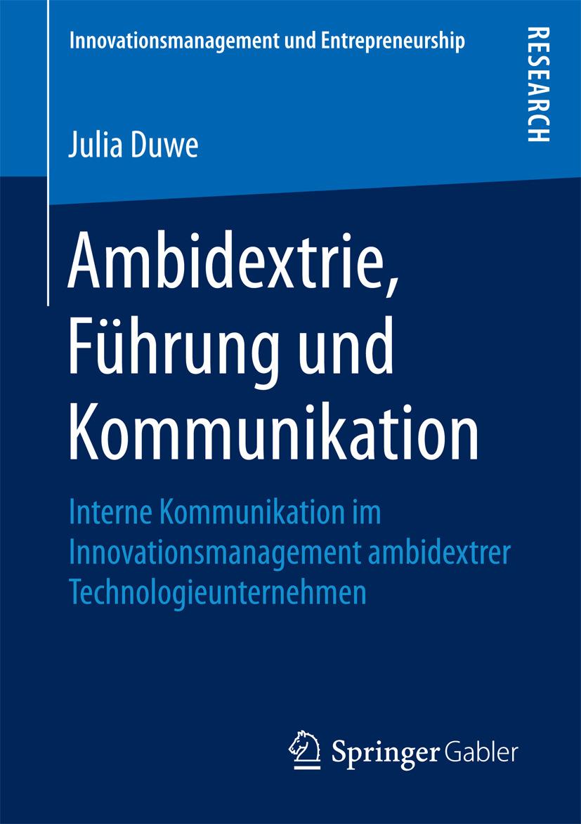 Duwe, Julia - Ambidextrie, Führung und Kommunikation, ebook
