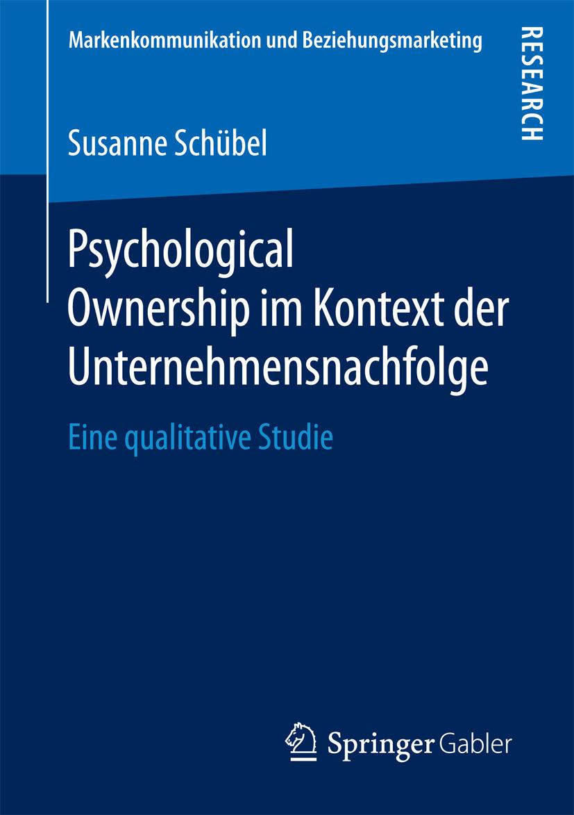 Schübel, Susanne - Psychological Ownership im Kontext der Unternehmensnachfolge, ebook