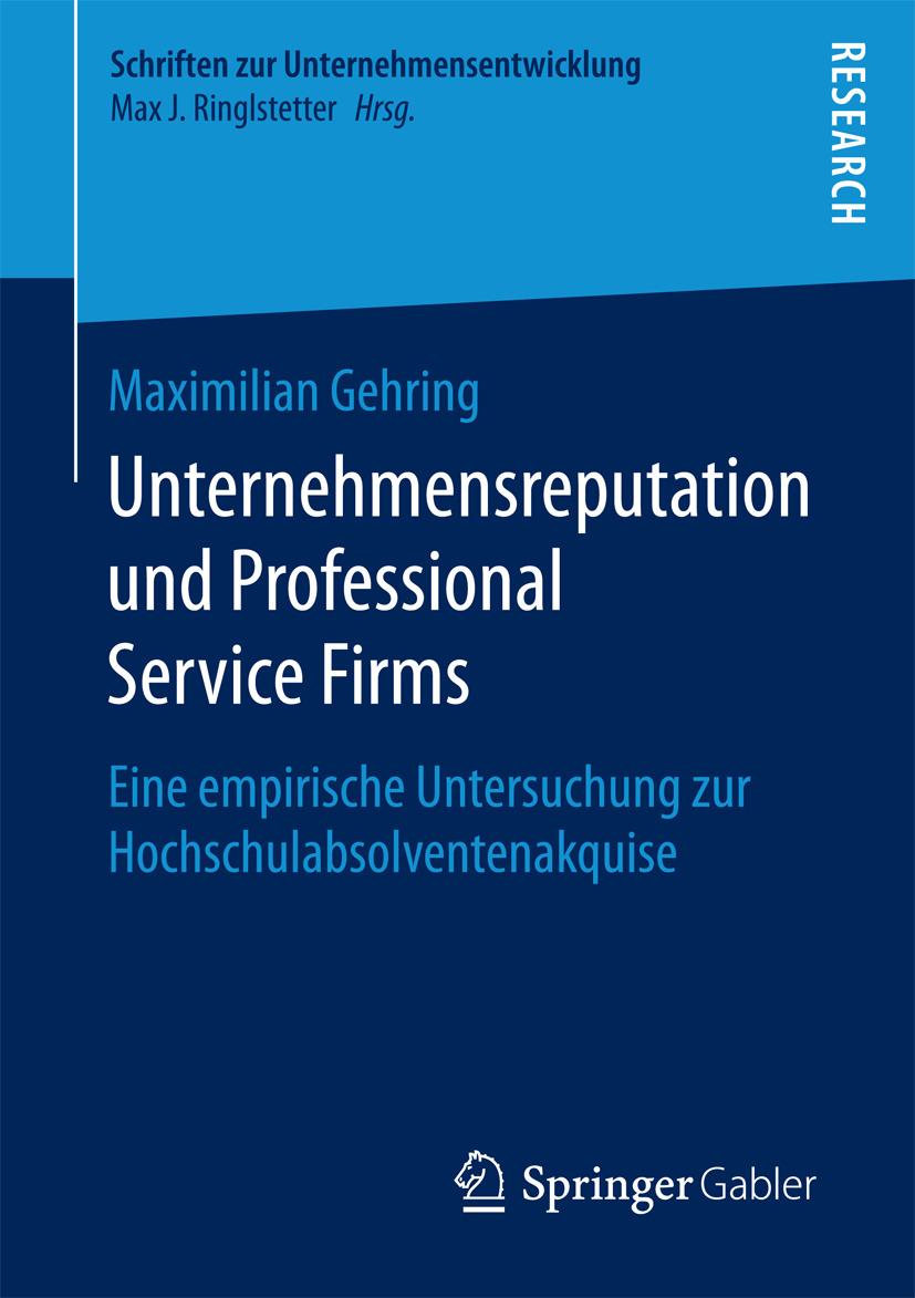 Gehring, Maximilian - Unternehmensreputation und Professional Service Firms, ebook