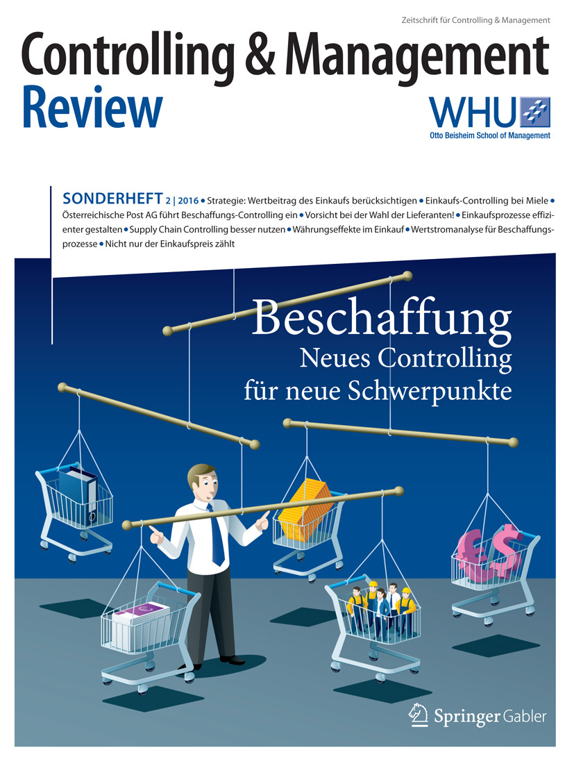 Schäffer, Utz - Controlling & Management Review Sonderheft 2-2016, e-kirja