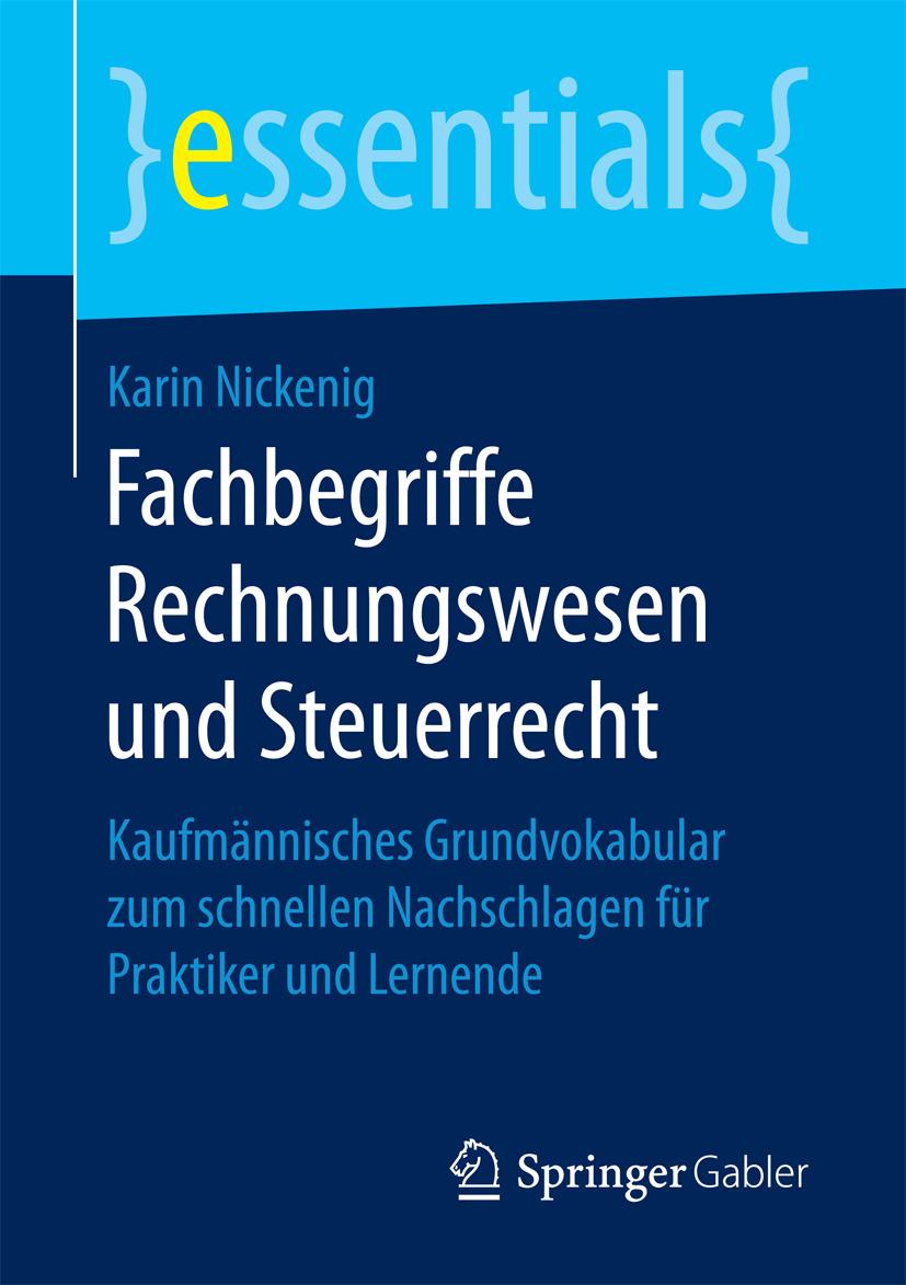 Nickenig, Karin - Fachbegriffe Rechnungswesen und Steuerrecht, ebook