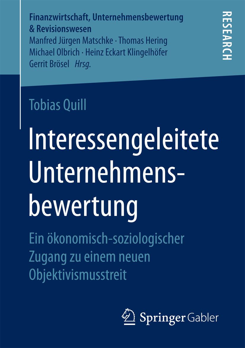 Quill, Tobias - Interessengeleitete Unternehmensbewertung, ebook