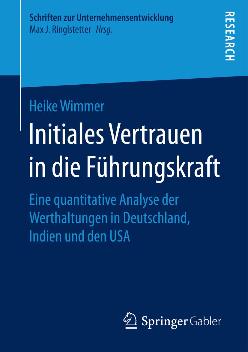 Wimmer, Heike - Initiales Vertrauen in die Führungskraft, ebook