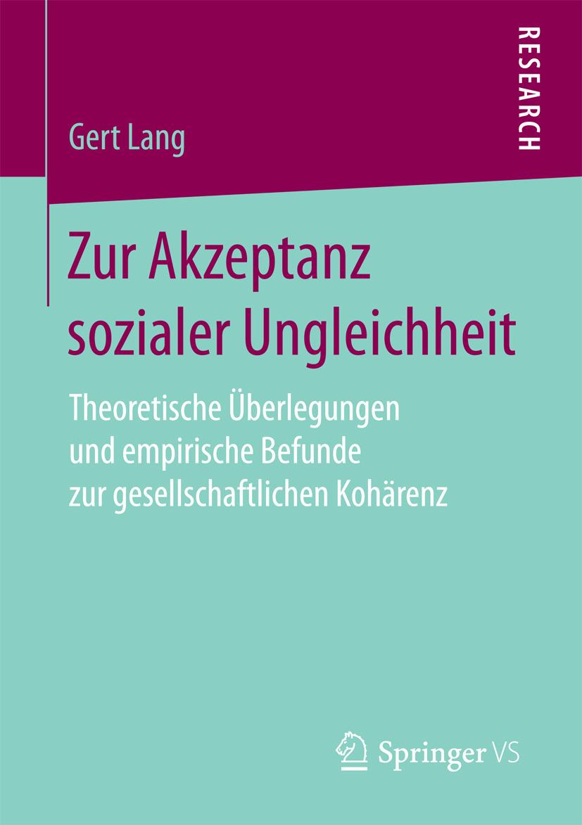 Lang, Gert - Zur Akzeptanz sozialer Ungleichheit, ebook