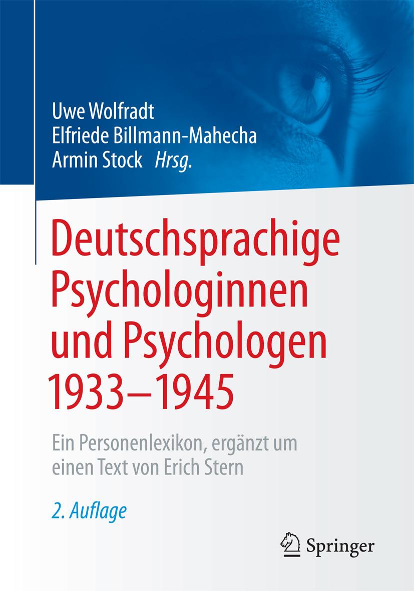 Billmann-Mahecha, Elfriede - Deutschsprachige Psychologinnen und Psychologen 1933–1945, ebook
