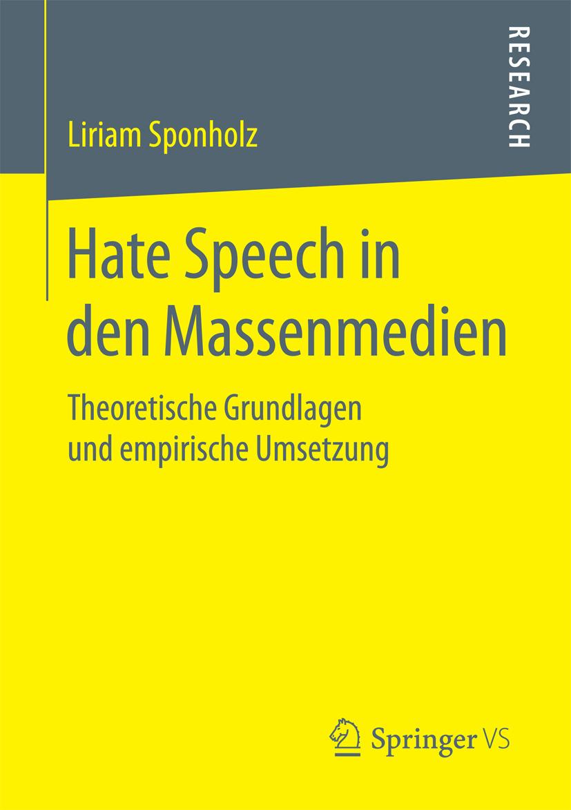 Sponholz, Liriam - Hate Speech in den Massenmedien, ebook