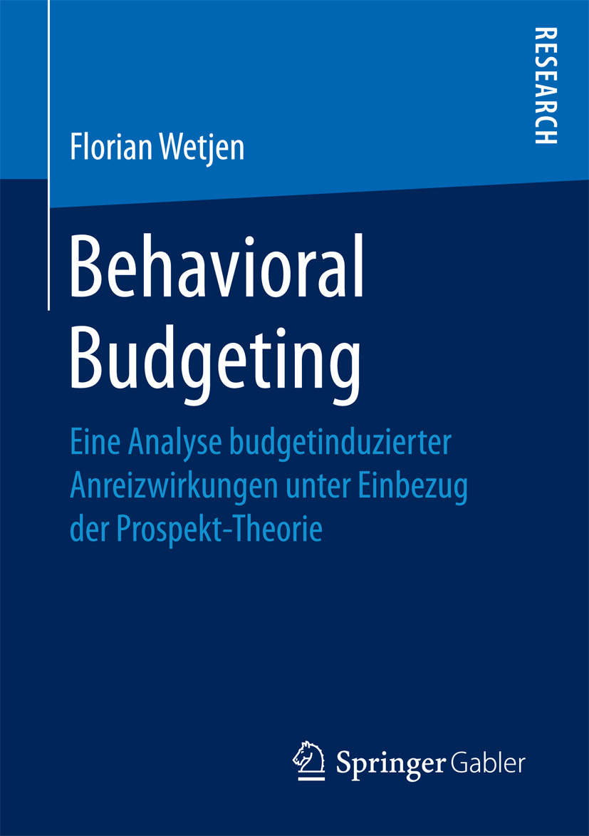 Wetjen, Florian - Behavioral Budgeting, ebook