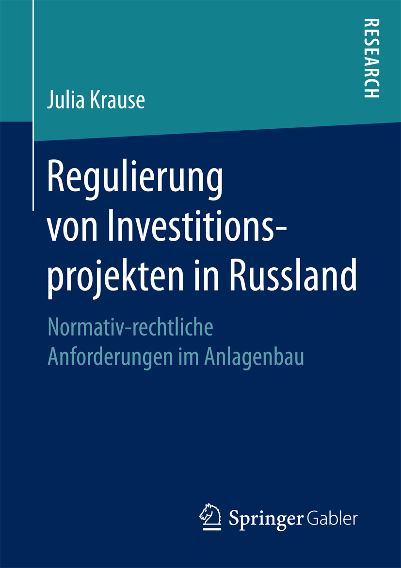 Krause, Julia - Regulierung von Investitionsprojekten in Russland, ebook