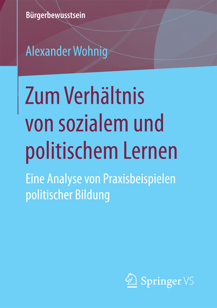 Wohnig, Alexander - Zum Verhältnis von sozialem und politischem Lernen, ebook