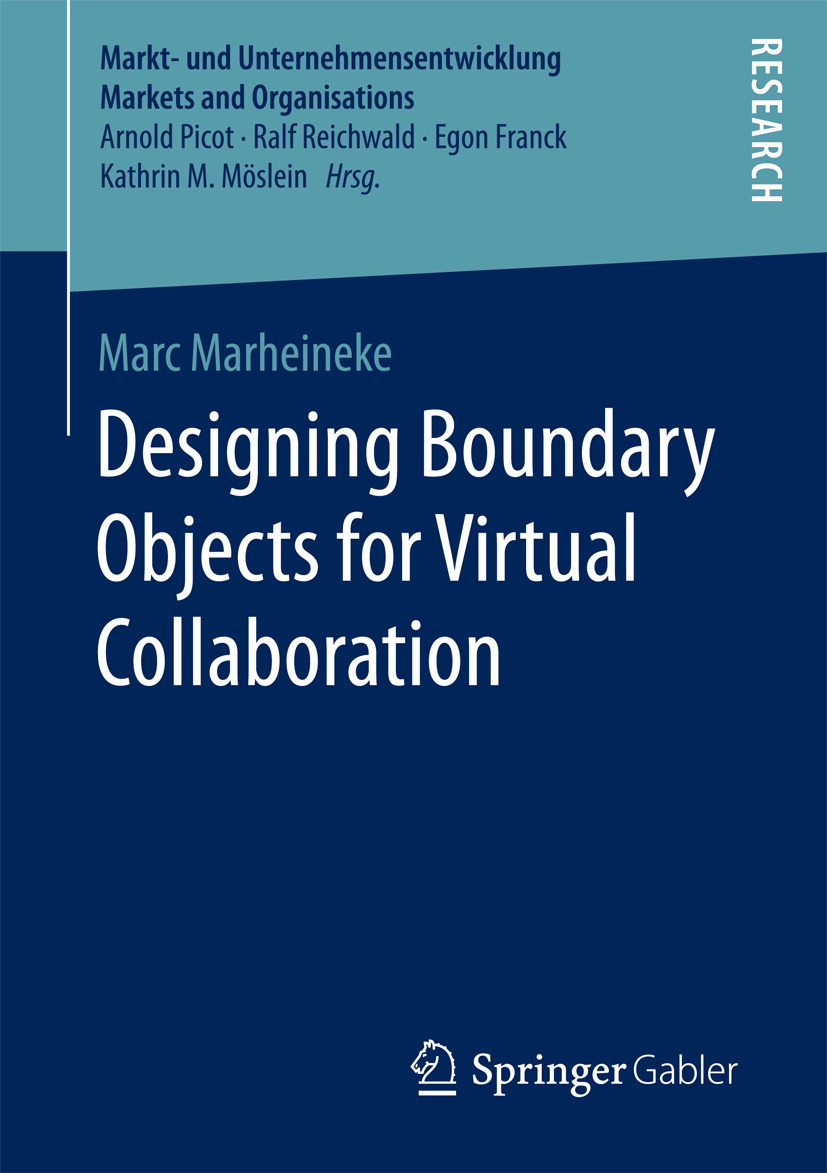 Marheineke, Marc - Designing Boundary Objects for Virtual Collaboration, e-kirja