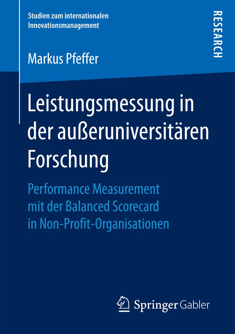 Pfeffer, Markus - Leistungsmessung in der außeruniversitären Forschung, ebook