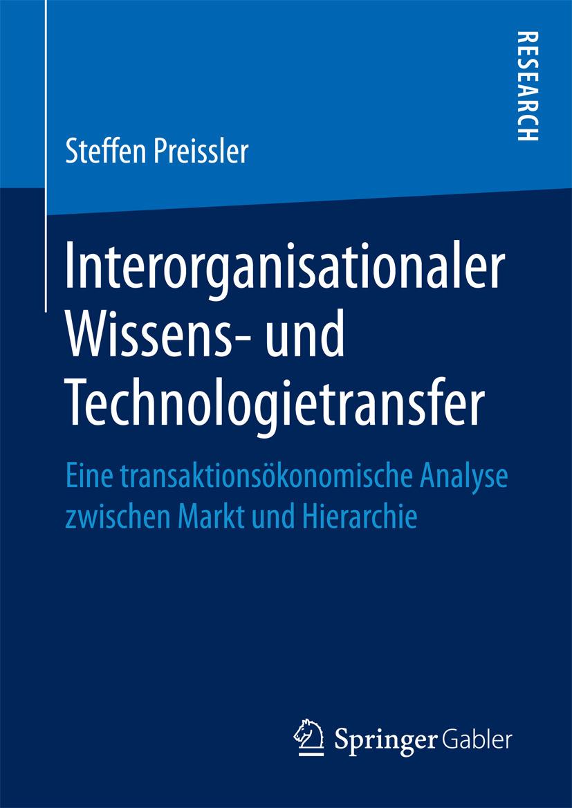 Preissler, Steffen - Interorganisationaler Wissens- und Technologietransfer, ebook