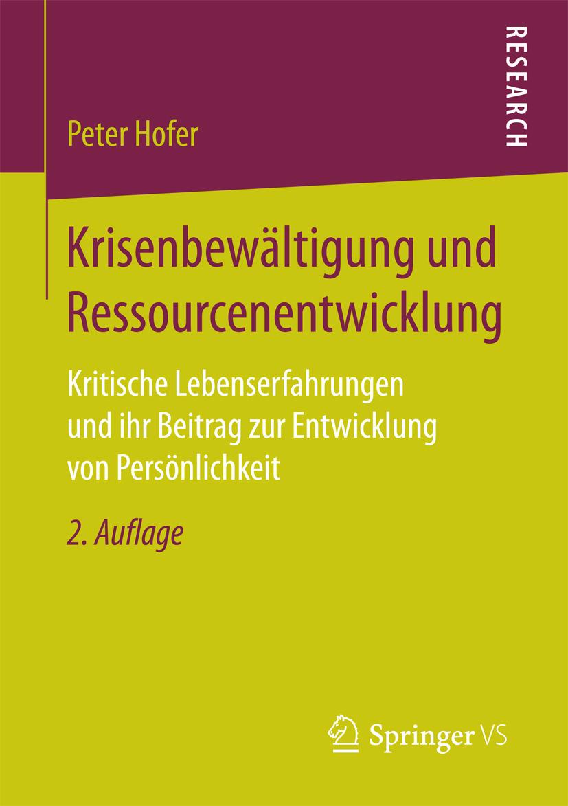 Hofer, Peter - Krisenbewältigung und Ressourcenentwicklung, ebook