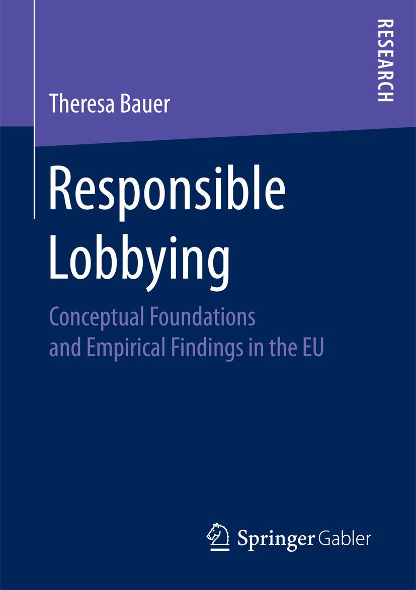 Bauer, Theresa - Responsible Lobbying, ebook