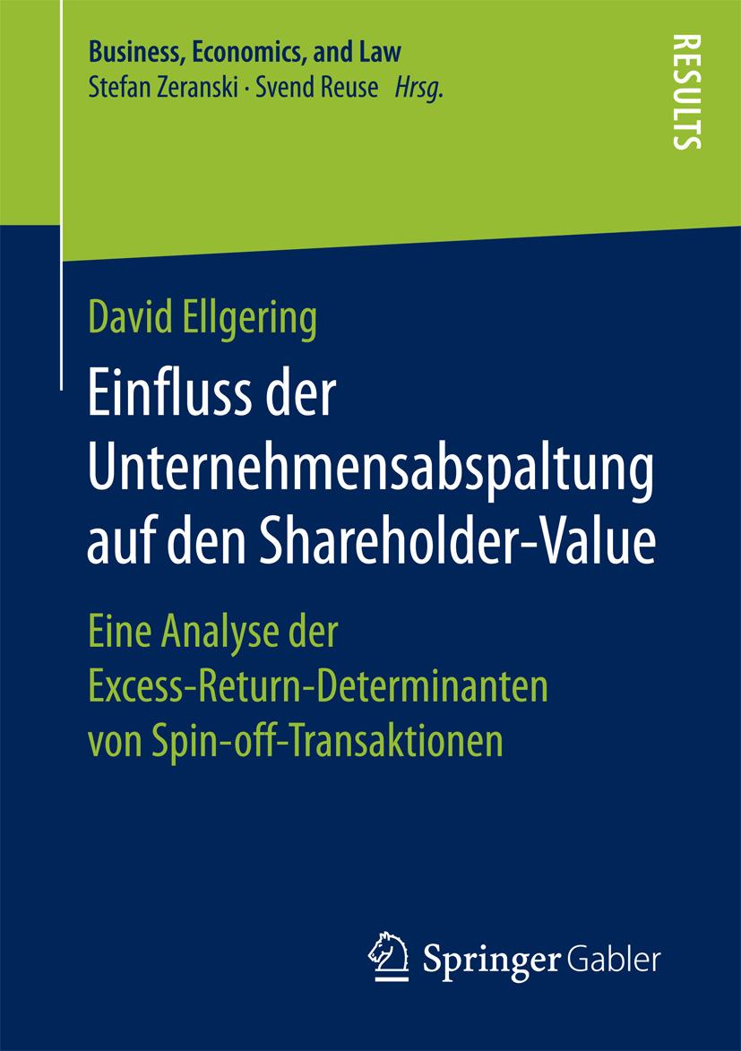 Ellgering, David - Einfluss der Unternehmensabspaltung auf den Shareholder-Value, ebook