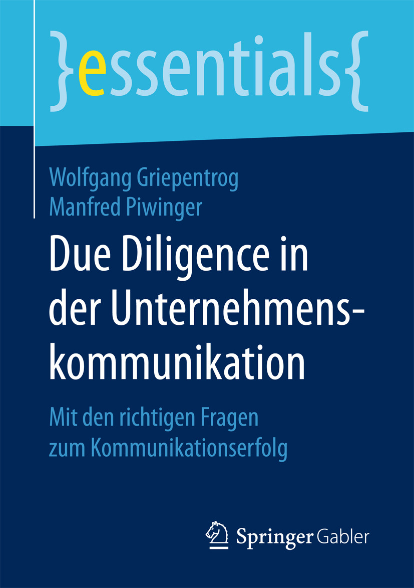 Griepentrog, Wolfgang - Due Diligence in der Unternehmenskommunikation, e-kirja