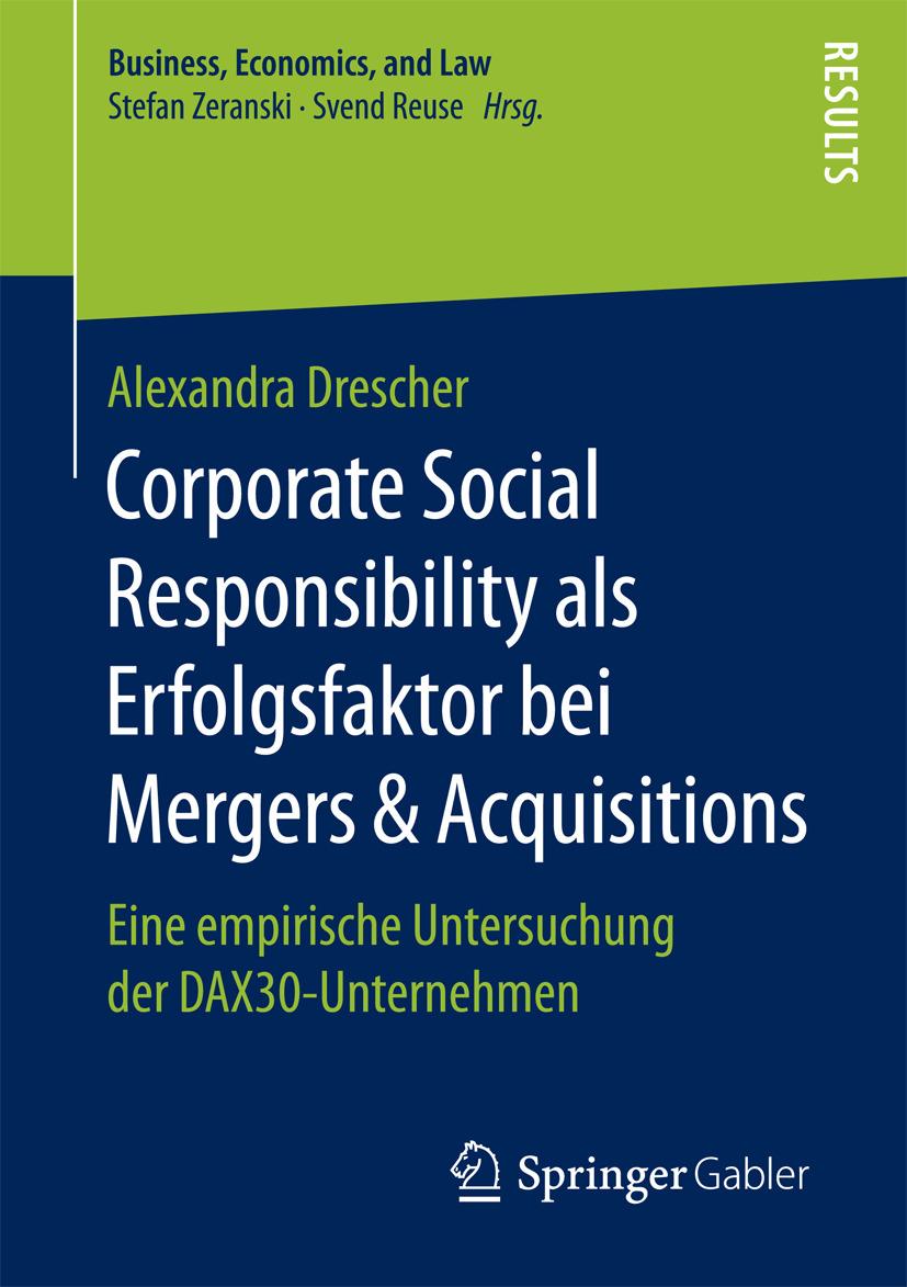Drescher, Alexandra - Corporate Social Responsibility als Erfolgsfaktor bei Mergers & Acquisitions, ebook