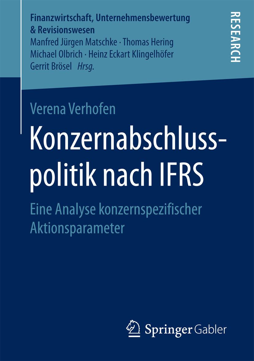 Verhofen, Verena - Konzernabschlusspolitik nach IFRS, ebook
