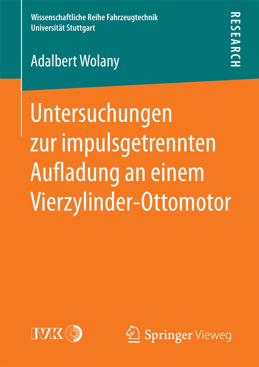 Wolany, Adalbert - Untersuchungen zur impulsgetrennten Aufladung an einem Vierzylinder-Ottomotor, ebook