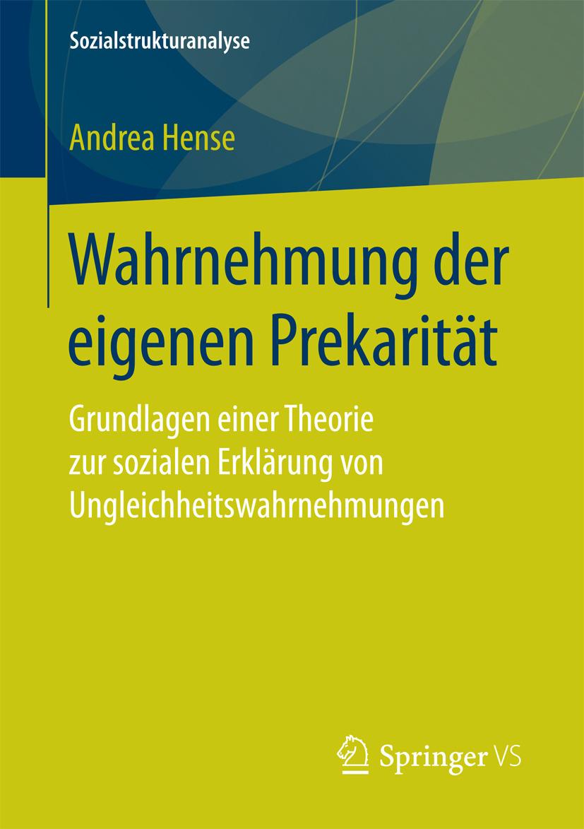 Hense, Andrea - Wahrnehmung der eigenen Prekarität, ebook