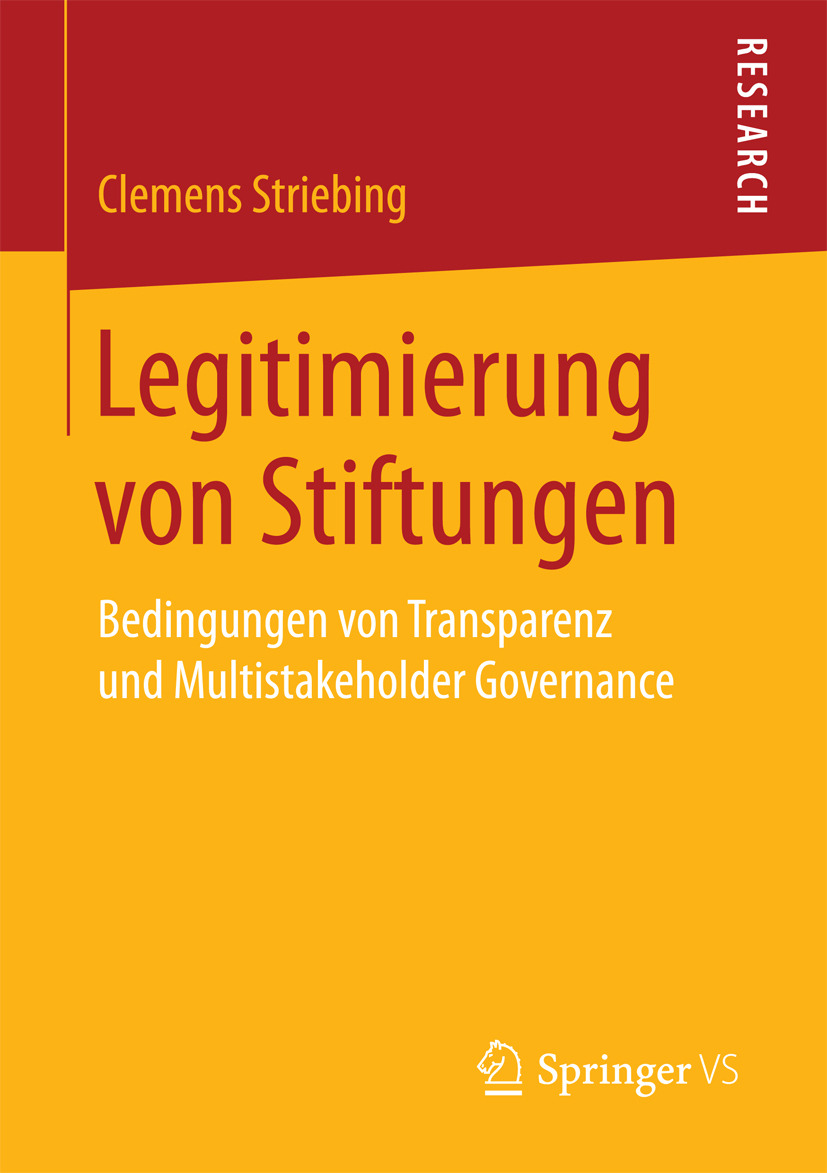 Striebing, Clemens - Legitimierung von Stiftungen, ebook