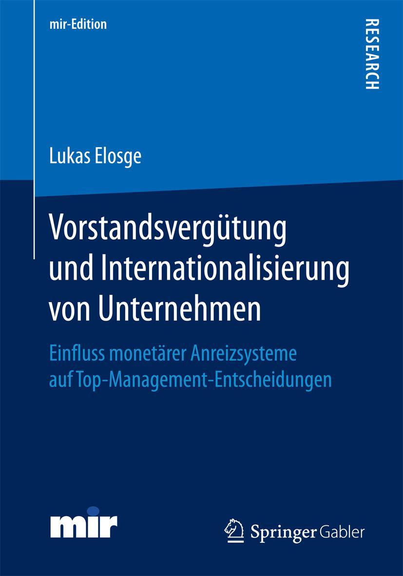 Elosge, Dr. Lukas - Vorstandsvergütung und Internationalisierung von Unternehmen, ebook