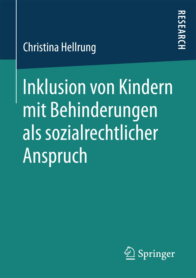 Hellrung, Christina - Inklusion von Kindern mit Behinderungen als sozialrechtlicher Anspruch, e-bok