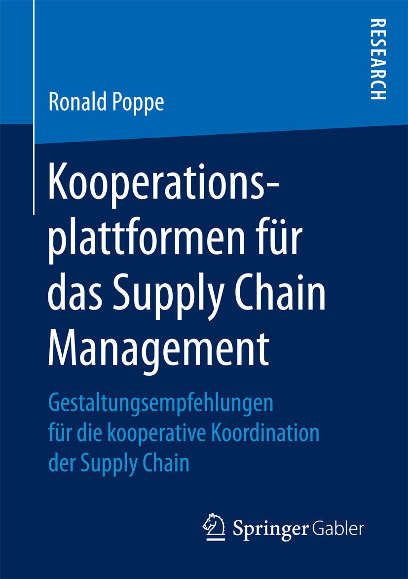 Poppe, Ronald - Kooperationsplattformen für das Supply Chain Management, ebook