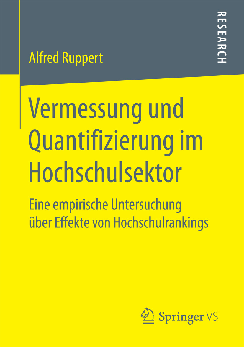 Ruppert, Alfred - Vermessung und Quantifizierung im Hochschulsektor, ebook
