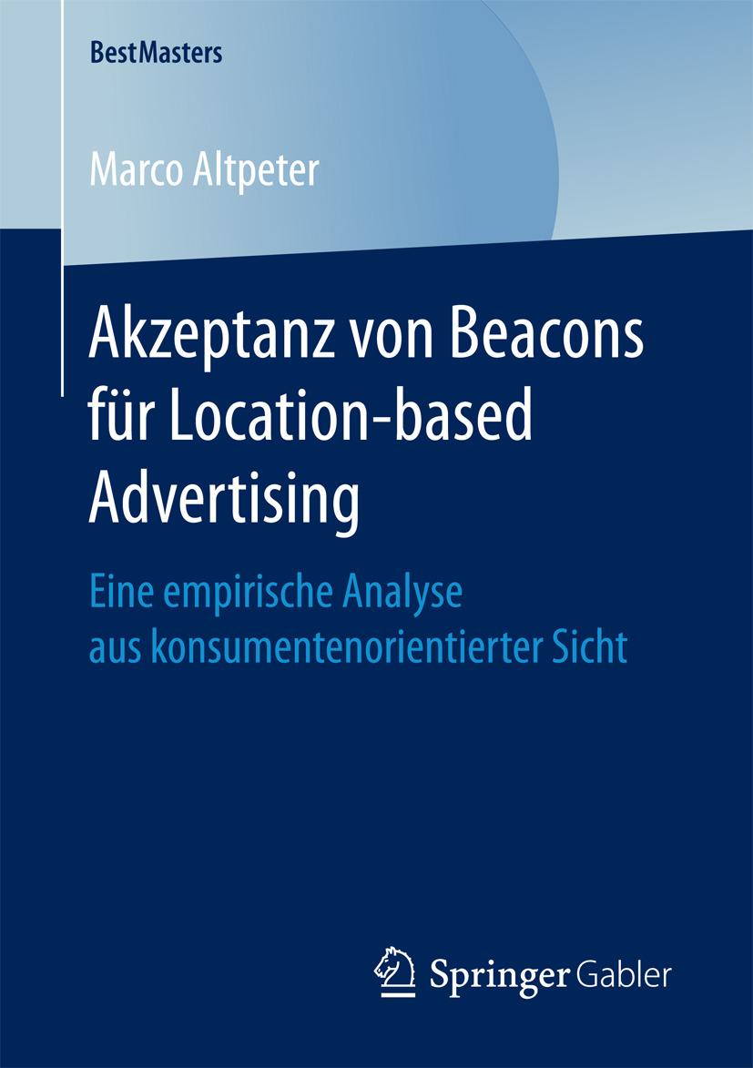 Altpeter, Marco - Akzeptanz von Beacons für Location-based Advertising, ebook