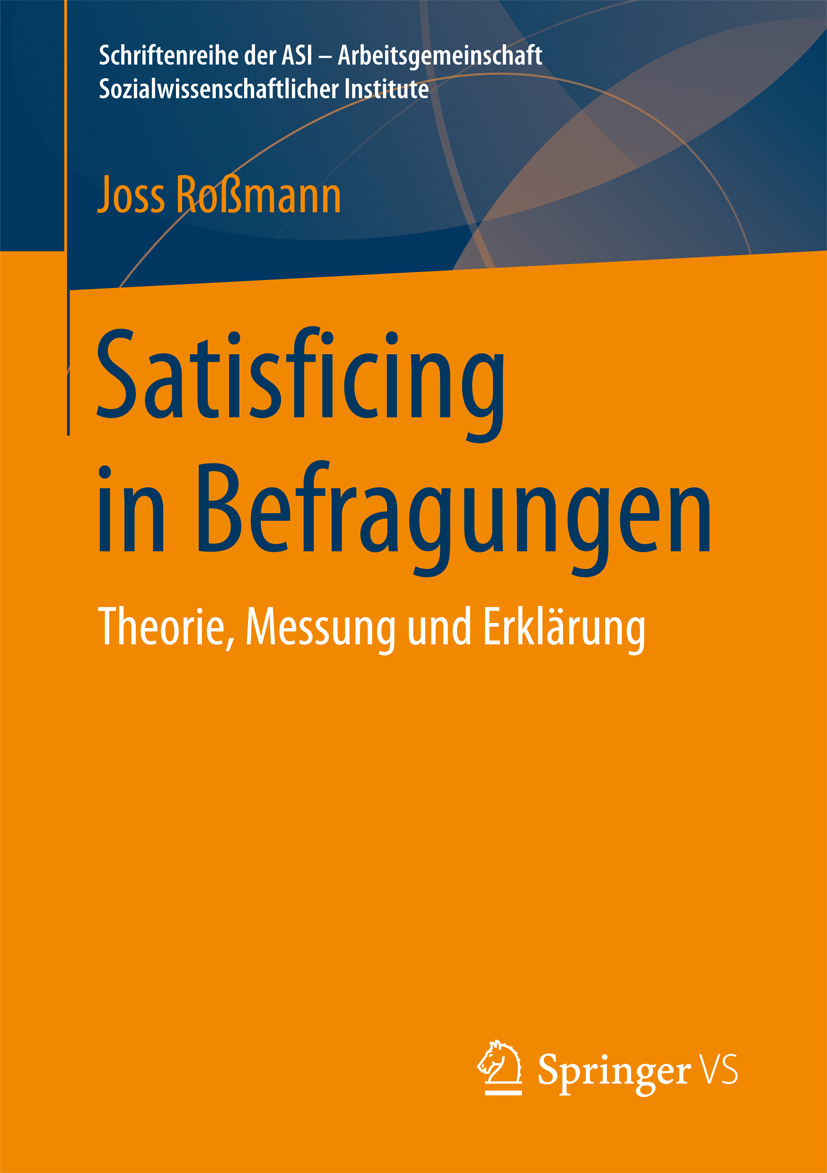 Roßmann, Joss - Satisficing in Befragungen, ebook
