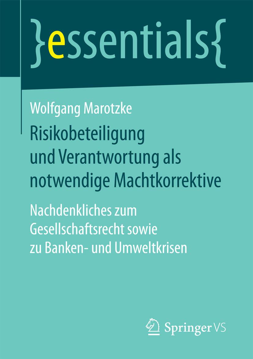 Marotzke, Wolfgang - Risikobeteiligung und Verantwortung als notwendige Machtkorrektive, ebook