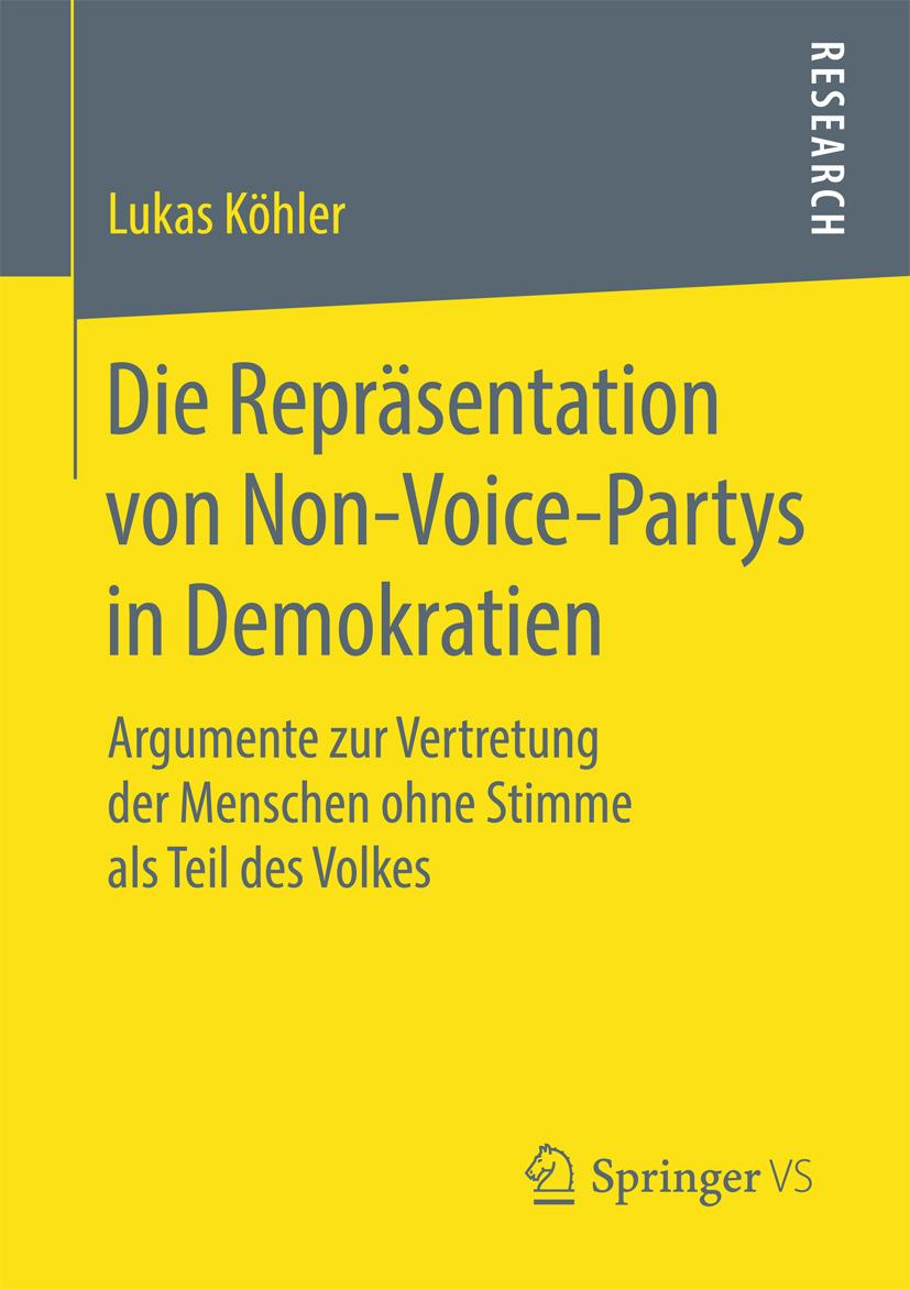 Köhler, Lukas - Die Repräsentation von Non-Voice-Partys in Demokratien, ebook
