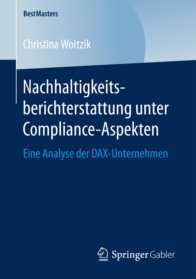 Woitzik, Christina - Nachhaltigkeitsberichterstattung unter Compliance-Aspekten, ebook