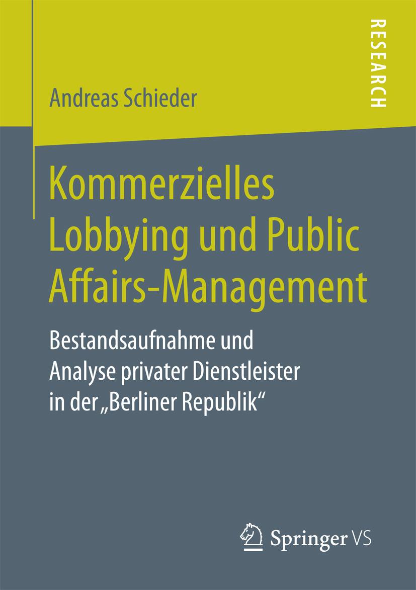 Schieder, Andreas - Kommerzielles Lobbying und Public Affairs-Management, ebook