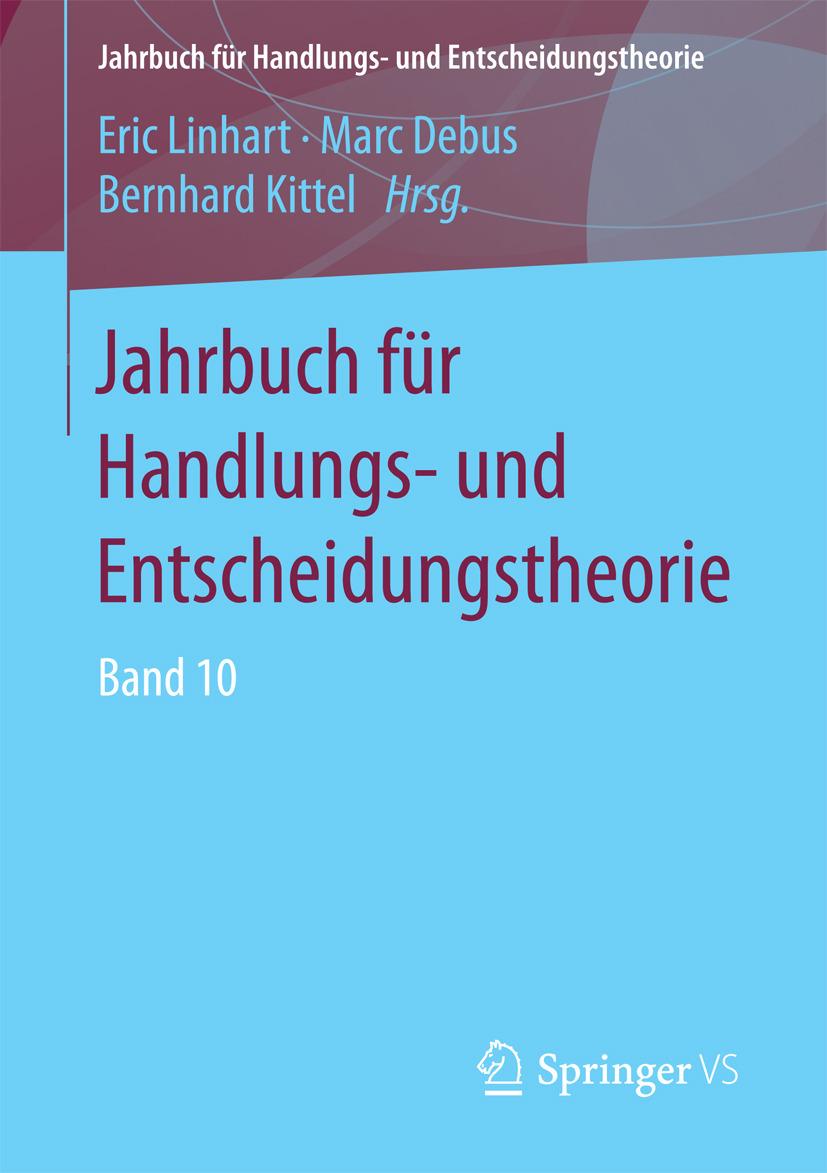 Debus, Marc - Jahrbuch für Handlungs- und Entscheidungstheorie, e-bok