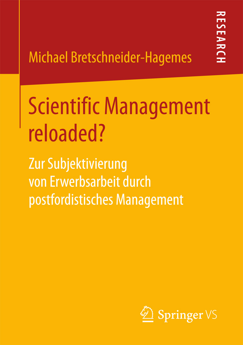Bretschneider-Hagemes, Michael - Scientific Management reloaded?, ebook