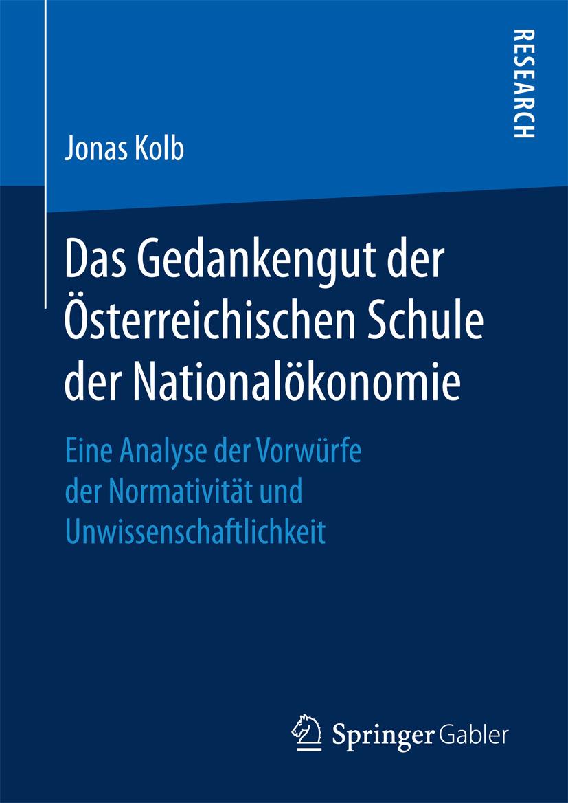 Kolb, Jonas - Das Gedankengut der Österreichischen Schule der Nationalökonomie, ebook