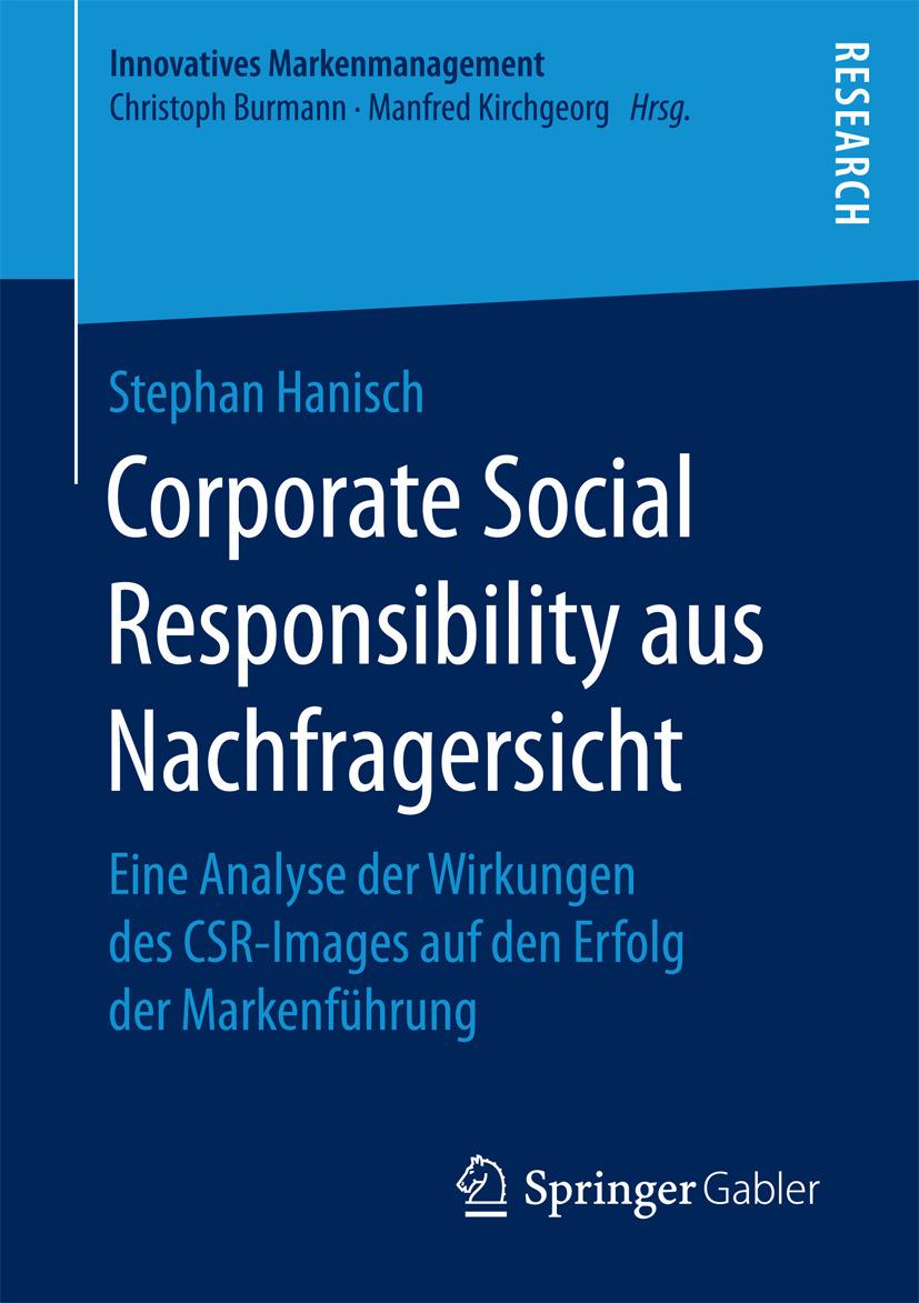Hanisch, Stephan - Corporate Social Responsibility aus Nachfragersicht, ebook