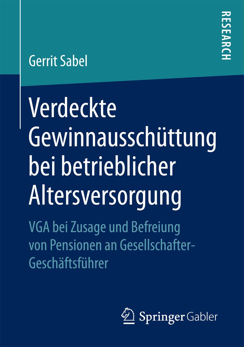 Sabel, Gerrit - Verdeckte Gewinnausschüttung bei betrieblicher Altersversorgung, ebook