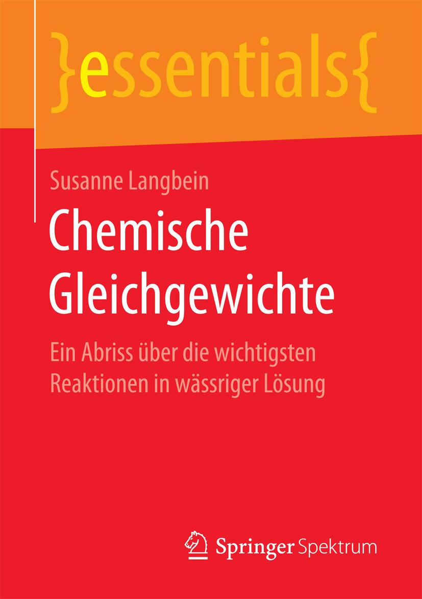 Langbein, Susanne - Chemische Gleichgewichte, ebook