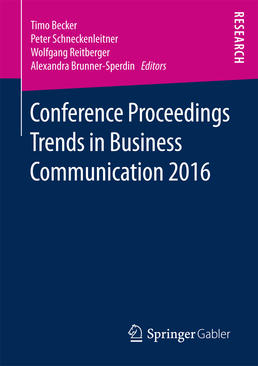 Becker, Timo - Conference Proceedings Trends in Business Communication 2016, ebook