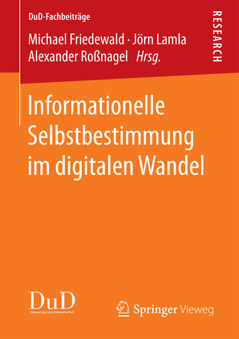 Friedewald, Michael - Informationelle Selbstbestimmung im digitalen Wandel, ebook