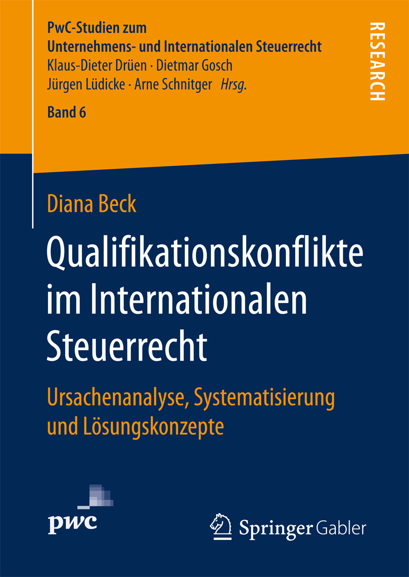 Beck, Diana - Qualifikationskonflikte im Internationalen Steuerrecht, ebook